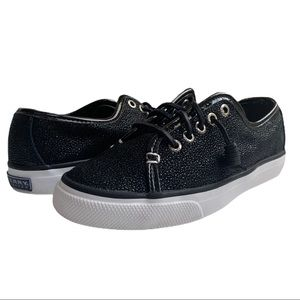 Sperry Top-Sider Black Sparkle Boat Shoe Sneakers